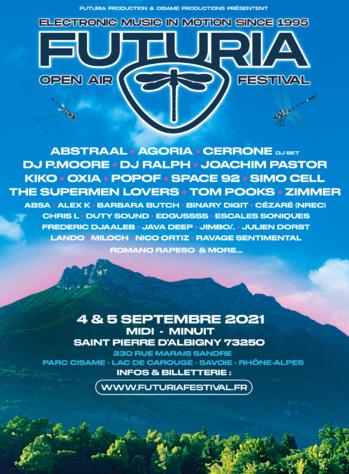 Futuria Open Air Festival - 4 et 5 Septembre 2021 - Saint-Pierre d'Albigny - Savoie (73)