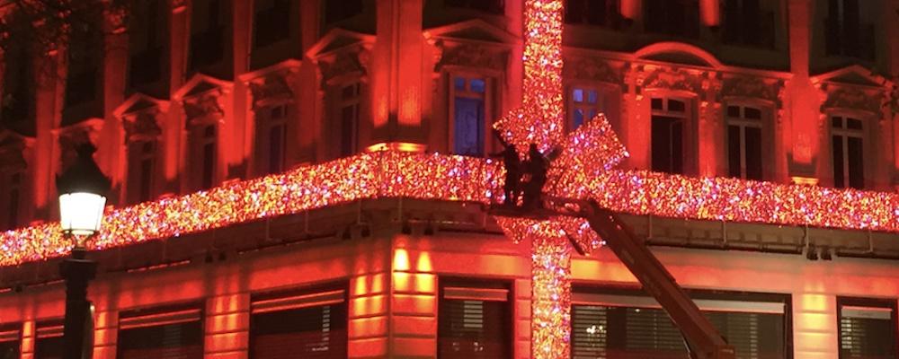 Décoration Cartier Champs-Elysées