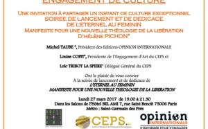 """Soirée de lancemment """"L'Eternel au Féminin"""" Lundi 27 Mars - Hôtel Bel Ami"""